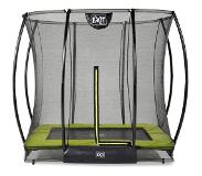 Exit Trampoline Exit Toys Silhouette Ground Rectangular 214 x 153 cm Green + Safetynet