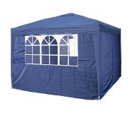Garden Royal Partytent 3x3m Easy Up blauw met 4 zijwanden