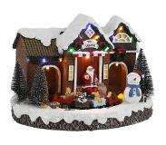 Luville Village with Santa and train battery operated l28b23h22 cm
