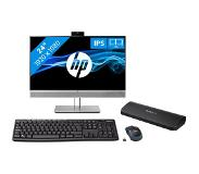 Coolblue HP EliteDisplay E243m + StarTech docking station + Logitech wireless toetsenbord en muis QWERTY