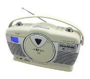Soundmaster RCD1350BE Radio-CD Retro Draagbaar - Beige