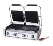Hendi Dubbele Contactgrill Professional - Gegroefd/Glad - Grilloppervlakte: 47,5x23cm