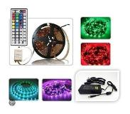 ABC-led LED strip RGB 5-meter Plug & play WATERPROOF 44-key