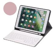 Shop4 - iPad 9.7 2018 Toetsenbord Hoes - Bluetooth Keyboard Cover Business Rosu00c3u00a9 Goud met Pencil Houder
