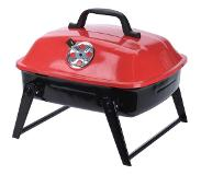 BBQ Portable Barbecue Zwart/rood Staal 35 X 31,5 X 28 Cm