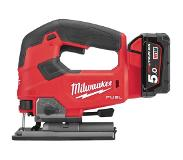 Milwaukee M18 FJS-502X Accu Decoupeerzaag 25mm 18V 5.0Ah Li-Ion M18 FUEL in HD-Box - 4933464727