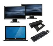 Dell Latitude E7240 - Intel Core i5 - 8GB - 120GB SSD - C-Grade + Docking + Dual 2x 24'' Widescreen Monitor