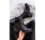 TheMusthaves Gesp Boots Luxury Zwart | Maat: 37