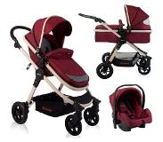 Baninni Kinderwagen Ayo - 3-in-1 - Misty Red