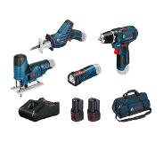 Bosch Combiset 12V Machines 4-delig in Tas - 0615990M06