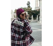 Colourful Rebel Stella Rebelle Check Teddy Jacket Bordeaux