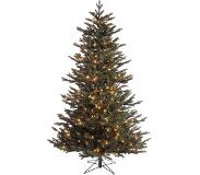 Black Box kunstkerstboom met led macallan maat in cm: 120 x 96 groen met 120 warmwitte led lampjes