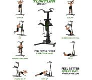 Tunturi Power Tower PT80 - Pull up station - Dip station - Sit up