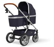 Moon Combi kinderwagen Nuova Silver /Navy Collection 2021