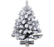 Everlands Mini kerstboom tafelboom Imperial boom snowy d33h45 cm groen/wit
