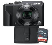 Nikon compact camera COOLPIX A1000 (zwart) Incl. Tas + 16GB