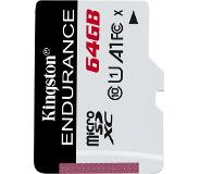 Kingston Technology High Endurance flashgeheugen 64 GB MicroSD UHS-I Klasse 10