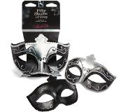 Fifty Shades of Grey of Grey Masquerade masker - 2 stuks