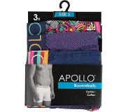 Apollo 3 pak Apollo herenboxershort 107 - Blauw - XL
