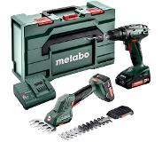 Metabo BS 18 + SGS 18 LTX Q 685186000 Accu-schroefboormachine 18 V 2.0 Ah Li-ion Incl. 2 accus, Incl. koffer, Incl. lader