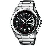 Casio Quartz Horloge EF-129D-1AVEF (l x b x h) 49 x 44.8 x 10.4 mm Zilver Materiaal (behuizing): RVS Materiaal (armband): RVS
