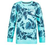 We fashion bloemen sweater Turquoise 110/116
