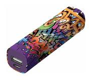 Trust 2600 mAh Powerbank 1 USB-poort(en) Urban Revolt Powerstick Graffiti Text