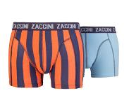 Zaccini 2-PACK BOXERSHORTS MARRAKESH, Medium (Blauw, Oranje, Medium)
