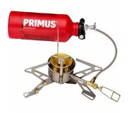 Primus OmniFuel II Campingkoker with fuel bottle and pouch grijs/rood 2018 Multifuel branders