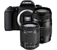 Canon EOS 77D + 18-55mm iS STM + Tamron 70-300mm Di LD Macro