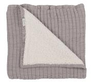 Koeka Vermont Plaid 130 x 170 cm - Taupe/Off White