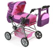 Bayer-Chic Chic 2000 Combi Poppenwagen Road Star - Dots Purple-Pink
