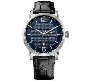 Tommy Hilfiger George TH1791216 Horloge Leer Zwart - Heren