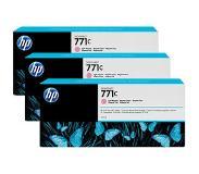 HP 771C 3-pack 775-ml Light Magenta Designjet Ink Cartridges