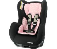 Nania Autostoel Nania Cosmo SP Black incl. Comfortseat Star Pink (0-18kg)