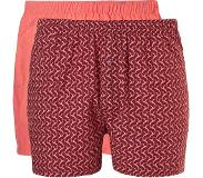 Ten Cate boxershort (set van 2) Bordeauxrood/koraal 4 (S)