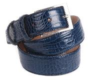 Suitable Croco Riem Donkerblauw Leer 42-01