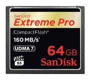 SanDisk 64GB Extreme Pro CF 160MB/s flashgeheugen CompactFlash