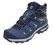 Salomon X ULTRA 3 MID GTX Bergschoenen crown blue/evening blue/sunny lime 37 1/3