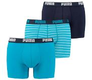 Puma boxershorts Basic 3-Pack hawaiian ocean, Small (Blauw, S)