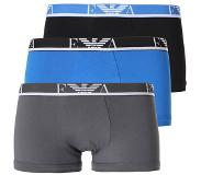 Emporio Armani 3 pack trunk blue/grey/black, Small (Blauw, Turquoise, Zwart, Small)