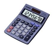 Casio MS-80VER Desktop Basisrekenmachine Blauw calculator