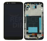 LG G2 LCD + Digitizer Assembly w/ Front Housing - Black voor LG G2 D802