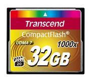 Transcend 1000x CompactFlash 32GB 32GB CompactFlash Class 6 flashgeheugen