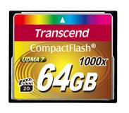 Transcend CompactFlash Card 1000x 64GB 64GB CompactFlash Class 6 flashgeheugen