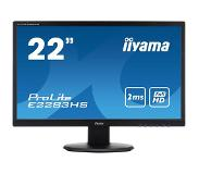 "Iiyama ProLite E2283HS-B1 21.5"" Zwart Full HD LED display"