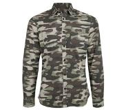 We fashion relaxed fit camouflage overhemd Military green M
