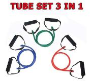 Focus fitness Resistance Tube - Focus Fitness - 3 in 1 SET