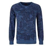 S.oliver Red Label sweater met all-over print blauw Blauw 2XL