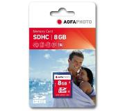 Agfaphoto 8GB SDHC Memory card 8GB SDHC flashgeheugen